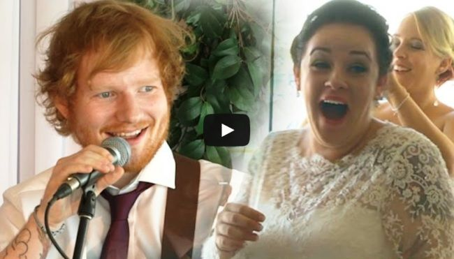 ed sheeran wedding singer