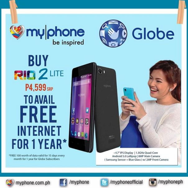 myphone rio 2 lite free internet