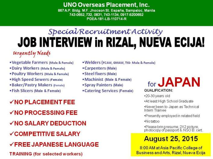 nueva ecija japan jobs