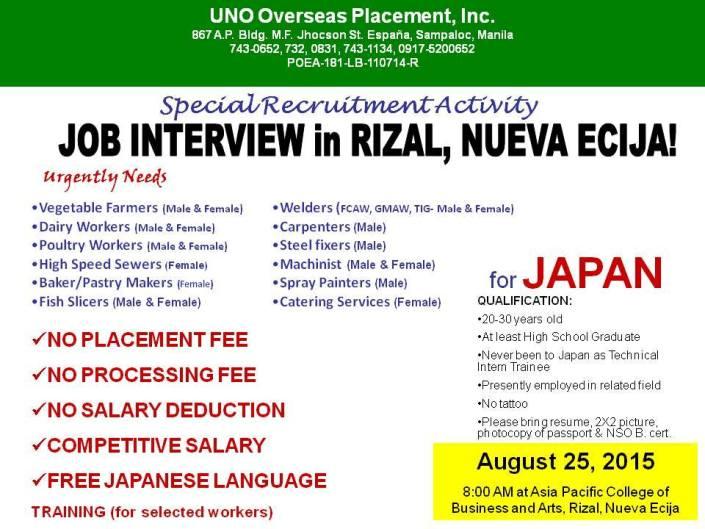 nueva ecija japan jobs