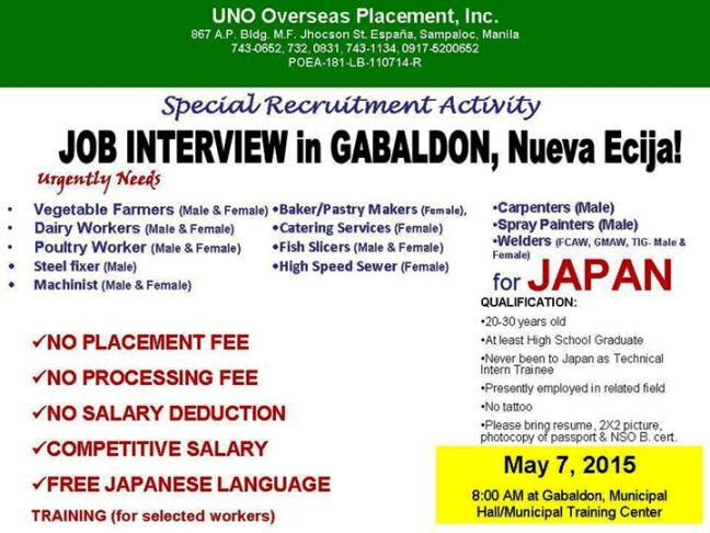 nueva ecija job openings for japan