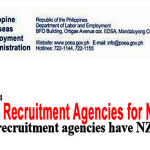 26 POEA Accredited Agencies for New Zealand, Apply to these Agencies