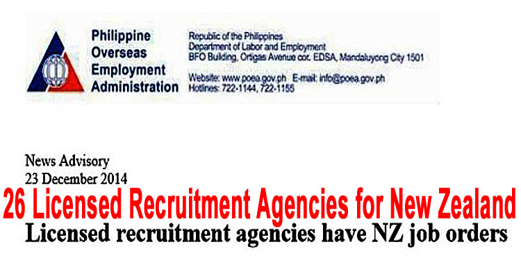 25 Poea Accredited Agencies For New Zealand Apply To These Agencies