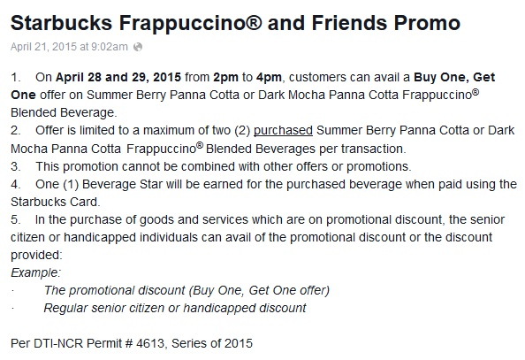 starbucks ph buy 1 get 1 mechanics