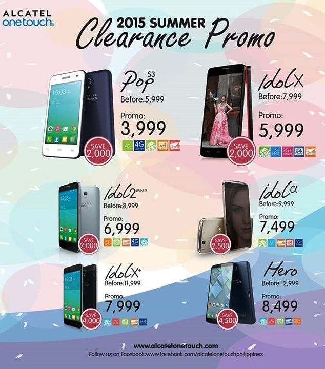 alcatel summer sale 2015