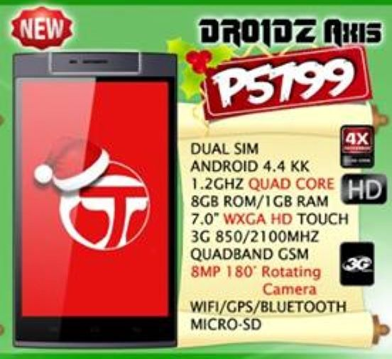 droidz axis specifications