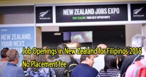 New Zealand Job Openings for Filipinos 2015, Vacant Positions, and Manpower Agency List