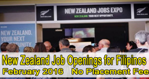 New Zealand Job Openings for Filipinos 2016, Vacant Positions, and Manpower Agency List