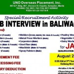 Japan Job Openings for Bulacan Residents, Interview on August 27 2015