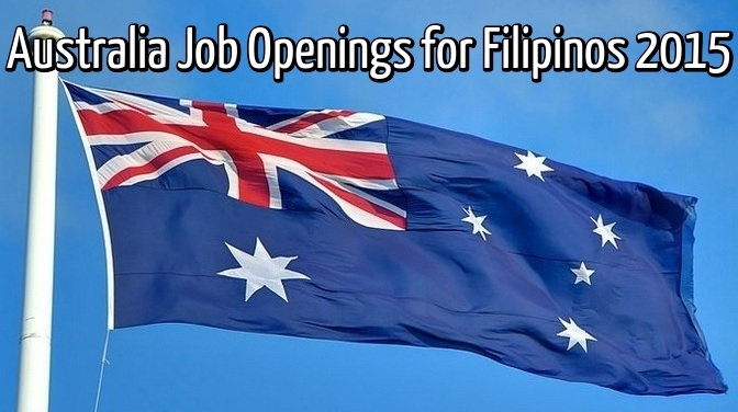 australia job openings for filipinos