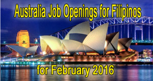 Australia Job Openings for Filipinos 2016, Accredited Agency List
