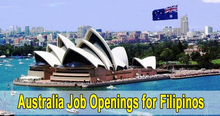 Australia Job Openings for Filipinos, POEA Accredited