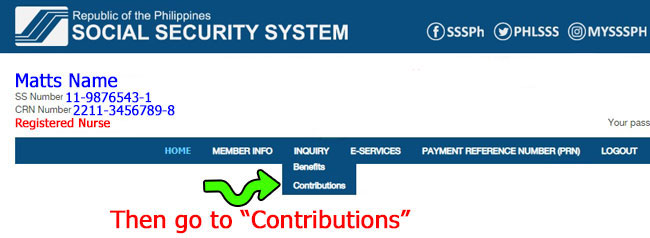 how to check sss contribution online 3
