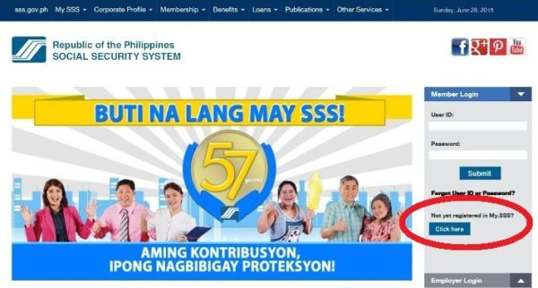 sss online registration processes