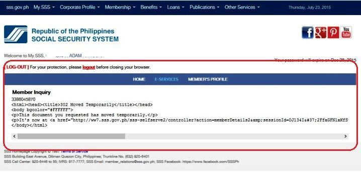 sss contribution member inquiry online