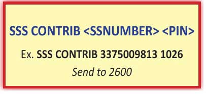 check sss contributions via text sss