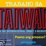 Taiwan Jobs for Filipinos 2016, Vacancies from POEA Accredited Agencies, Direct Hiring Jobs