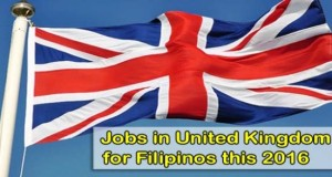 United Kingdom Jobs for Filipinos 2016, List of Hiring Manpower Agencies