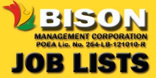 bison management corporation job list