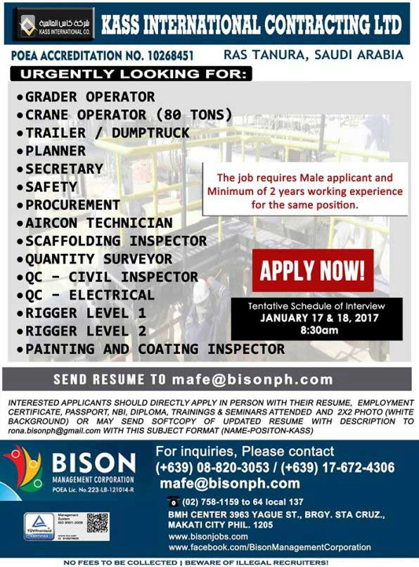 Bison Management Corporation Job Openings For Abroad 2017
