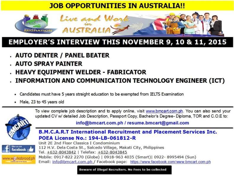 bmcart australia jobs
