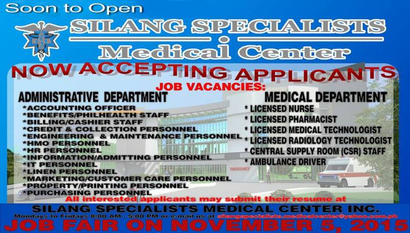medical jobs in cavite