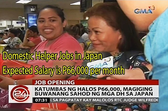 filipino domestic helpers japan salary