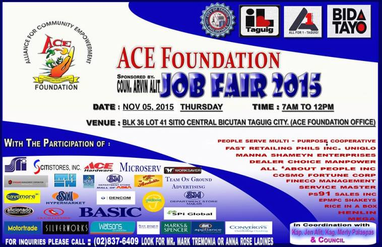 job fair in bicutan