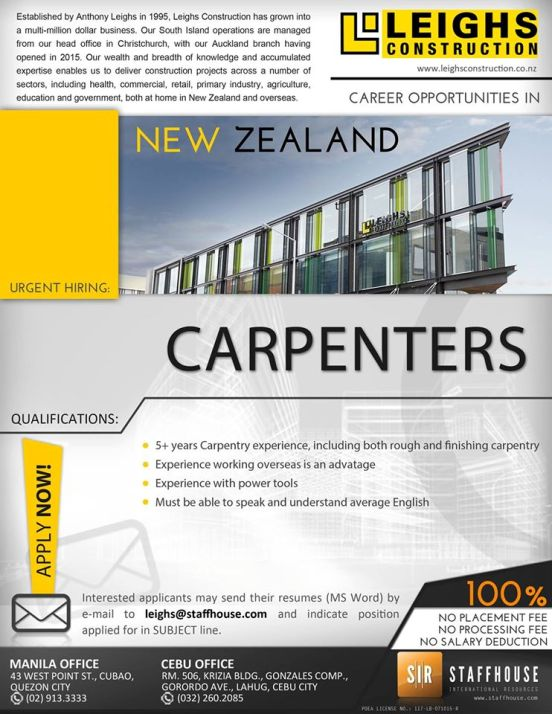 new zealand jobs staffhouse