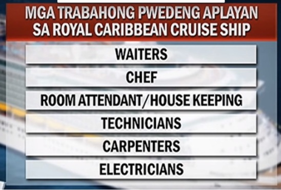 royal caribbean filipino jobs tv patrol