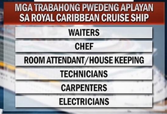 royal caribbean filipino jobs tv patrol