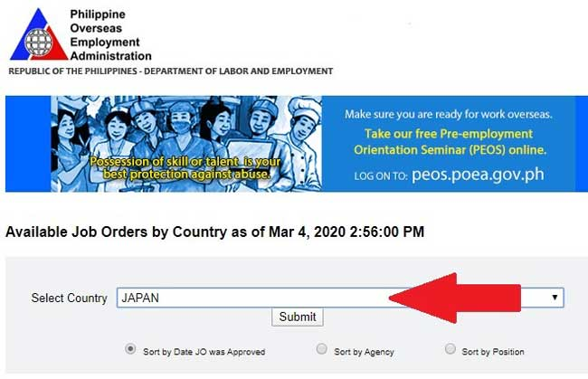 poea agency for japan jobs