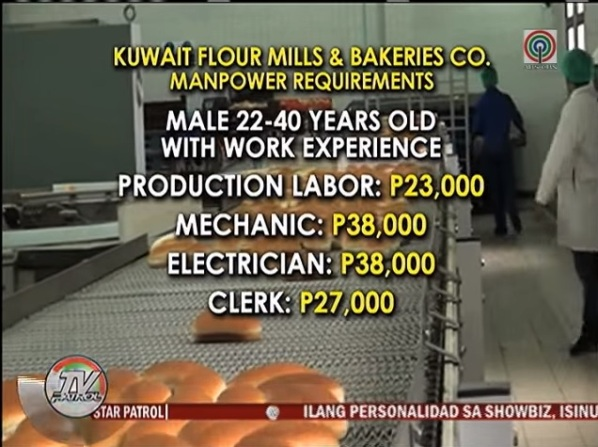 Biggest Bakery in Kuwait has 240 Job Openings for Filipino