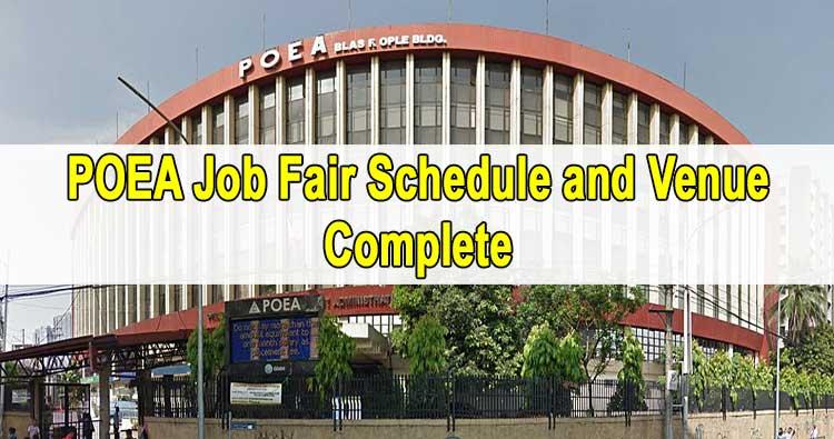 poea job hiring 2020 schedule