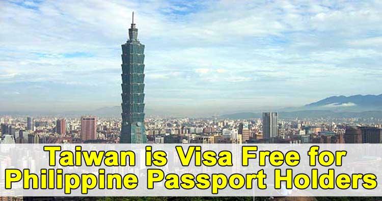 taiwan visa free philippines