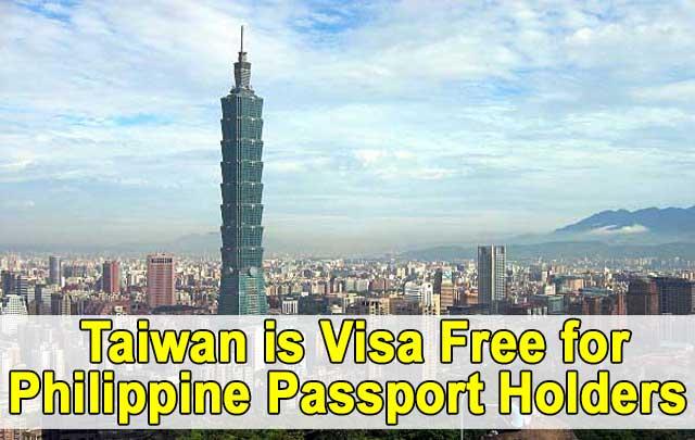taiwan visa free for philippine passport holders