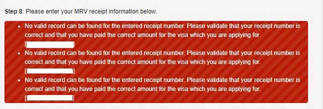 mrv receipt information for us visa application for filipino