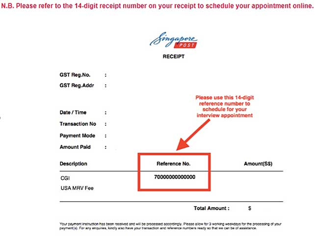 visa payment at singpost cgi reference number