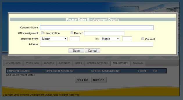 online employment details