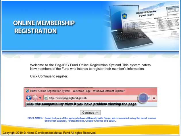 pag ibig online membership registration