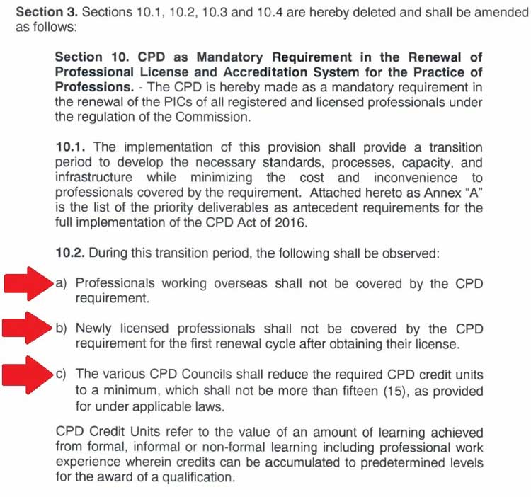 prc renewal cpd requirements online