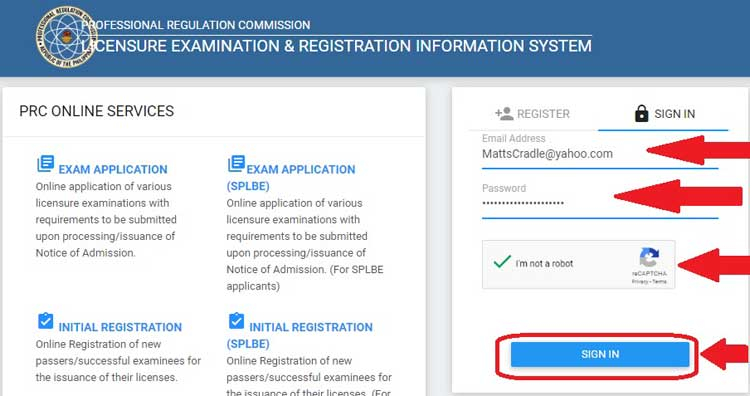 new board exam passer prc login