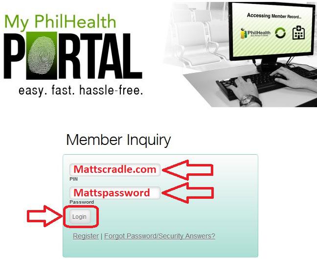 my philhealth portal step three