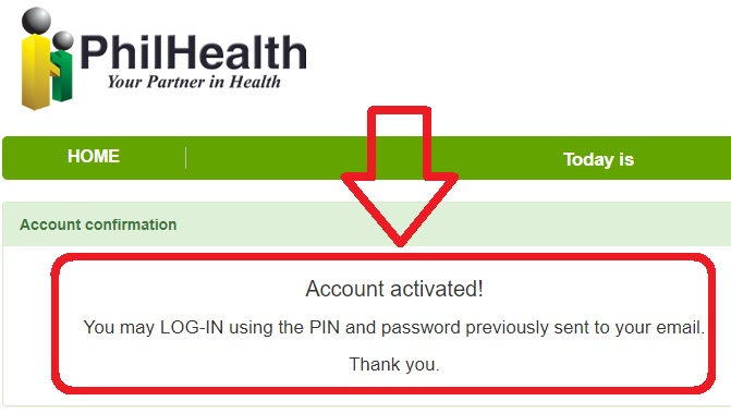 philhealth online account activated