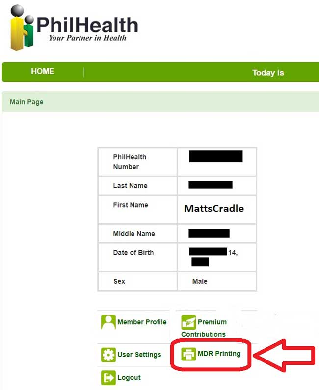 how to print philhealth mdr online