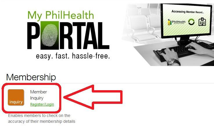 philhealth member inquiry step 2 one