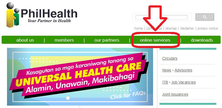 philhealth online registration step one