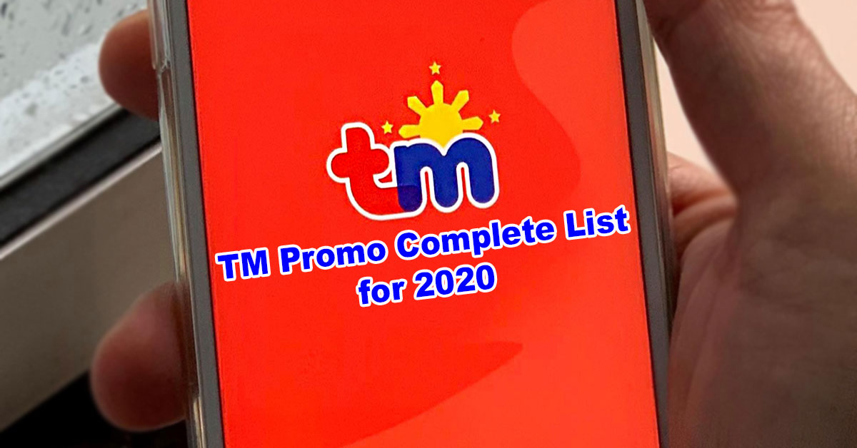 tm promo for data calls text complete list