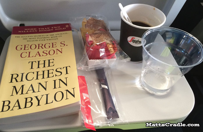 inflight meal paris to zurich via airfrance snack