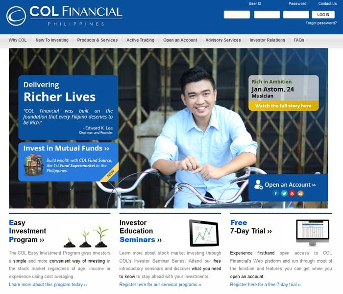 stockbroker colfinancial philippines
